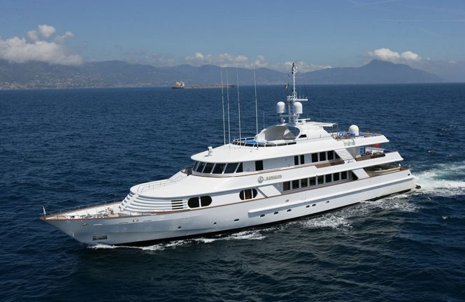 Luxury yacht KANALOA is now offering September charters at €90,000 per week plus expenses