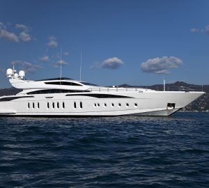 Charter speedy superyacht Lisa IV in the Western Mediterranean