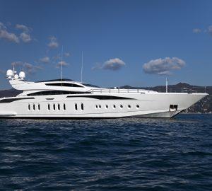 Charter speedy superyacht Lisa IV in the Western Mediterranean