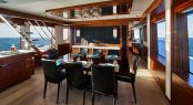 Luxury yacht M90 - Formal dining in the open-plan salon