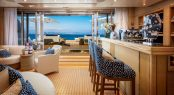 M/Y CLOUD 9 - Lower deck beach club bar