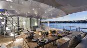 Main deck alfresco dining aboard Superyacht DESTINY