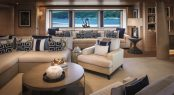 Main salon aboard luxury yacht CLOUD 9