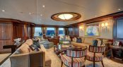 Main salon aboard luxury yacht SOVEREIGN