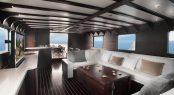 Main salon aboard motor yacht SEMAYA
