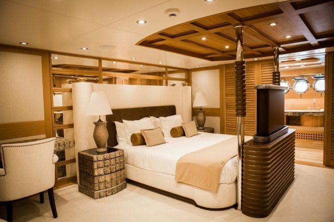 Master suite aboard luxury yacht ZANZIBA