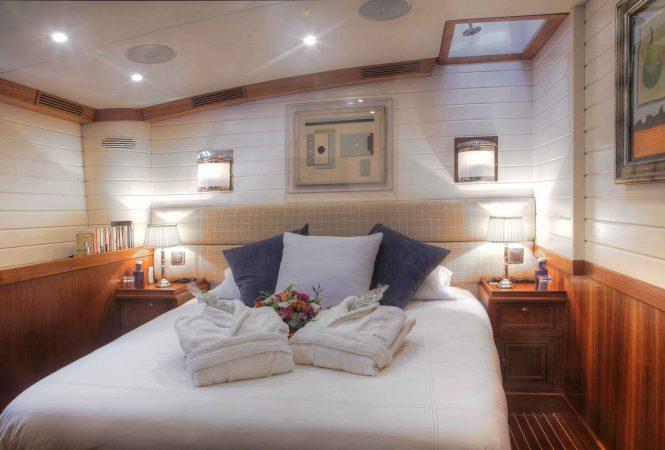 Master suite aboard motor yacht ALEXA