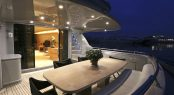 Motor yacht IF - Main deck aft alfresco dining