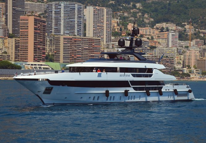 Motor yacht SEVEN SINS from Sanlorenzo will be on show throughout the event. Image credit Didier Didairbus