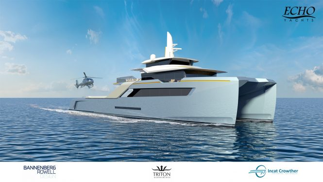 PROJECT ECHO from Echo Yachts, in collaboration with Bannenberg & Rowell Design, Incat Crowther and Triton Submarines