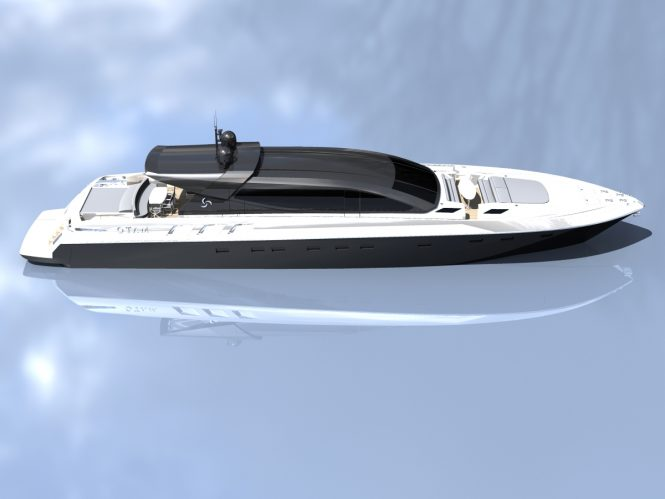 Profile of the 100 HT superyacht