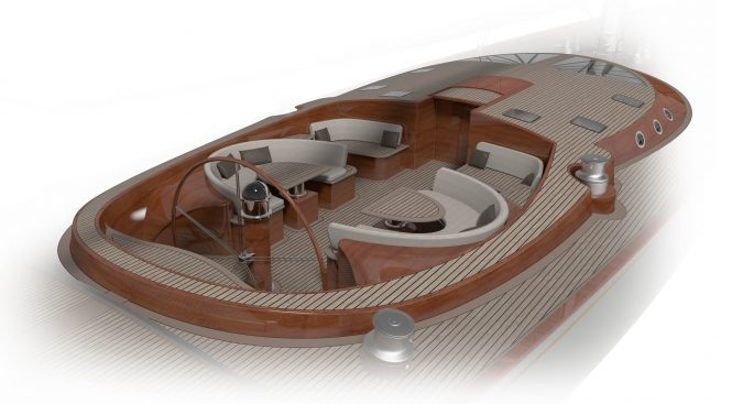 SPIRIT 111 - Cockpit converts into sunbeds. Image credit - Spirit Yachts