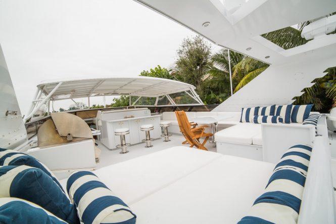 Sundeck aboard motor yacht LADY LEX