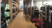 Superyacht CLOUD 9 - Lower deck tender garage and water toys storage