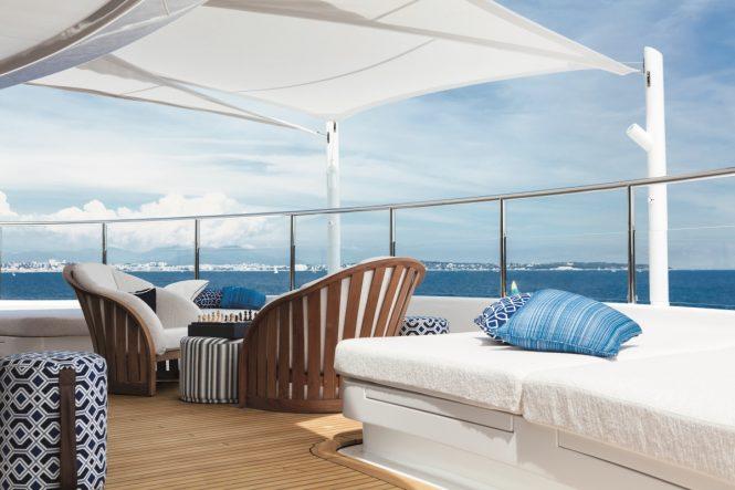 Superyacht CLOUD 9 - Owner's deck bow terrace