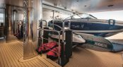 Superyacht CLOUD 9 - Tender garage