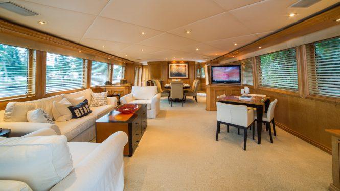 Superyacht LADY LEX - Main salon and formal dining area