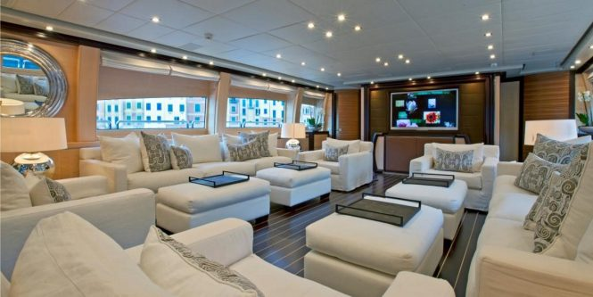Superyacht LISA IV - Salon interior
