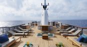 Superyacht MENORCA - Outdoor lounging on the sundeck. Photo credit Mare e Terra