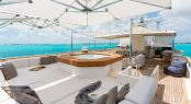 Superyacht PIONEER - Lower sundeck and Jacuzzi