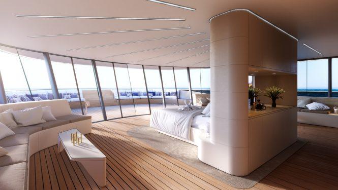 Superyacht SE77ANTASETTE - The forward Master suite