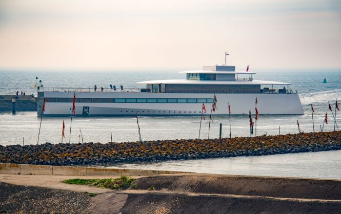 Superyacht VENUS returning for her refit with Feadship