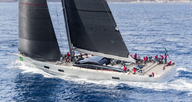 The Super Maxi class victory went to RIBELLE. Photo credit: ROLEX / Carlo Borlenghi