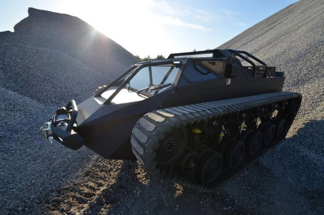 The luxury Ripsaw EV2 tank