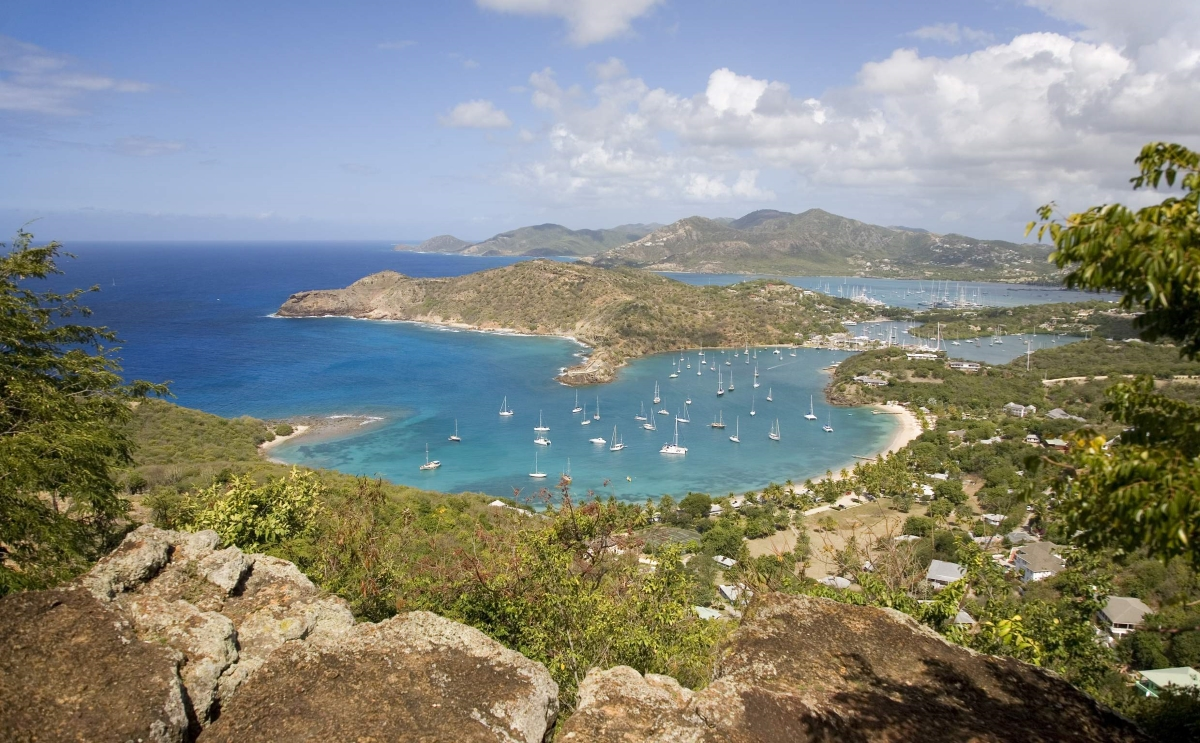 View of Antigua from Shirley Heights