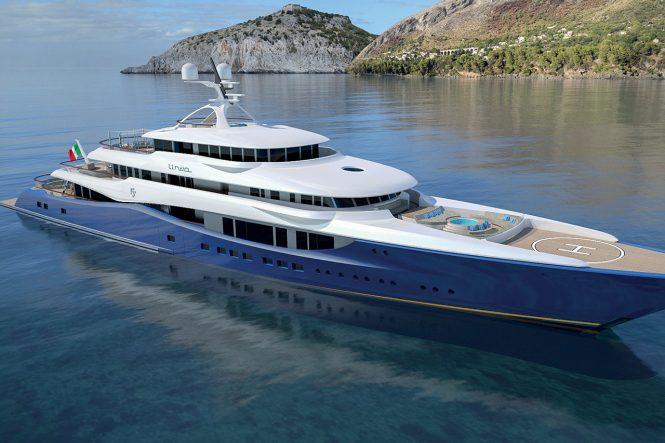 92m superyacht concept LINEA