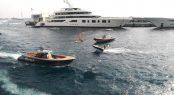 Aquarius and Jubilee mega yachts at Monaco Yacht Show 2017