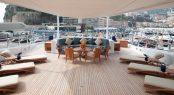 Anastasia at MYS in Monaco - sun deck with sun loungers
