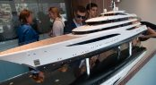 Feadship display at MYS 2017 - FAITH yacht model
