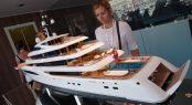 Feadship yacht model of FAITH at MYS 2017
