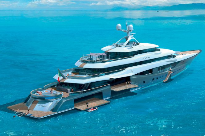 Luxury yacht LINEA - Aft view