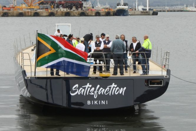 Luxury yacht SATISFACTION launched successfully in Cape Town