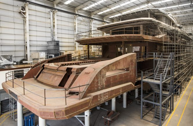 M/Y DAYS, the first ICE Yachts hull, under construction