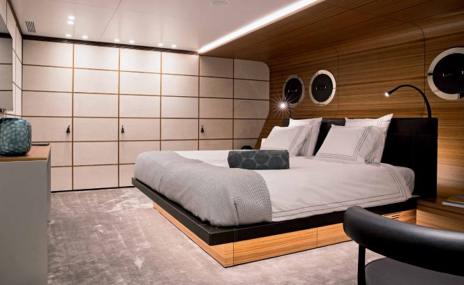 Motor yacht SILVER FAST - Master suite. Photo credit Silver Yachts