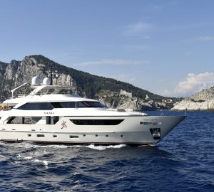 Luxury yacht Takara ready for charter in the Western Mediterranean