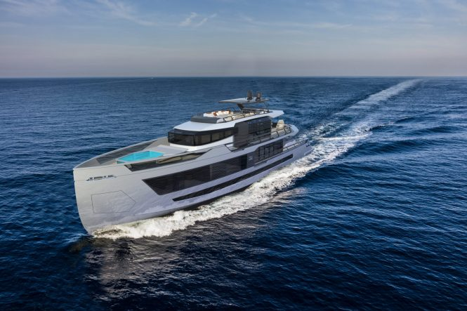 Motor yacht XSR 125 concept. Photo credit Red Yacht Design