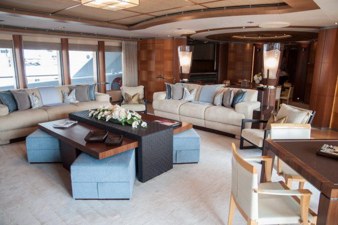 Mys 2017 - Oceanco yacht ANASTASIA 75m upper deck saloon