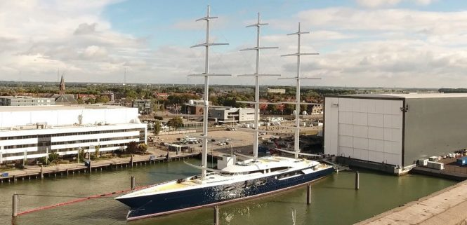 Sailing yacht BLACK PEARL - Built by Oceanco