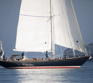 Sailing yacht Copihue begins winter refit at Balk Shipyard