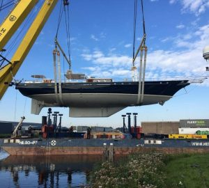 Classic sailing yacht Reesle receives refit at Claasen shipyard