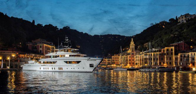 San Lorenzo Explorer Yacht Baia in Portofino, Italy