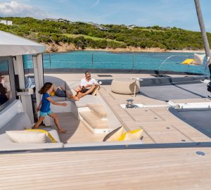 Book ahead to be the first charter guests aboard luxury catamaran Joy in the South of France