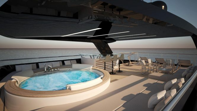 Sundeck concept for the Filippetti E32 luxury yacht