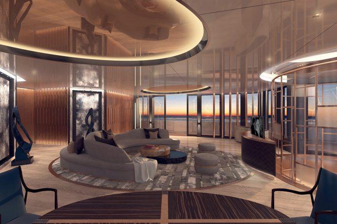 Superyacht LINEA - Salon