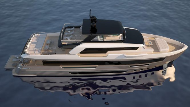 The Filippetti E32 explorer yacht from Filippetti Yachts in collaboration with Venetian Yacht Design