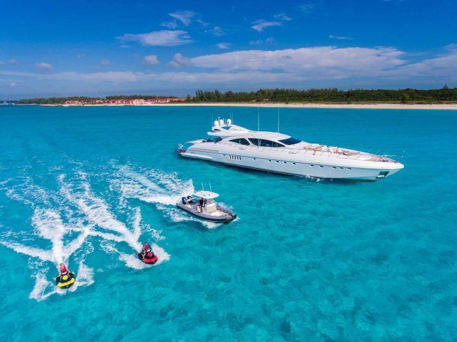 luxury yacht INCOGNITO with water toys